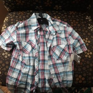 NWT Faded glory button down shirt